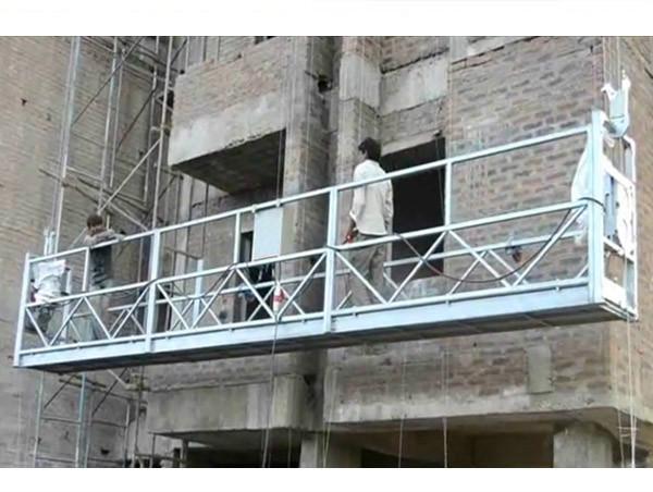 1.8KW ZLP800 Kenaikan elektrik angkat tinggi mengangkat tali digantung platform untuk pembinaan