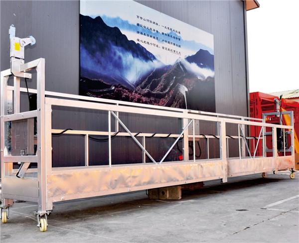 Plate-forme de fonctionnement suspendue par alliage d'aluminium de 10 mètres avec la grue LTD8.0