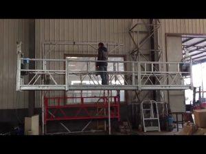 100m steel wire rope, aluminum 800kg ZLP 800 Aerial suspended platform with hot galvanized