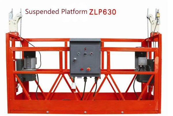 10M Powered Aluminium Rope Digantung Platform ZLP1000 Single Phase 2 * 2.2kw