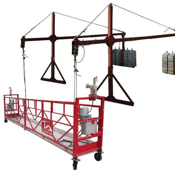 10m 800kg Suspended Scaffolding Systems Aluminium Alloy Dengan Lifting Tinggi 300m