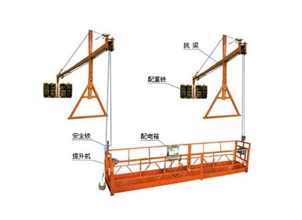 2 секции 500 кг Подвесная рабочая платформа с 3 типами счетчика Вес