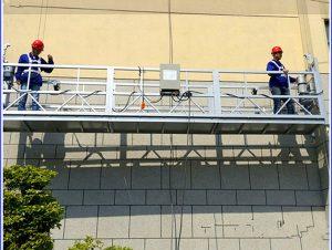 2 x 1.8 kw suspended scaffolding single phase suspended platform cradle zlp800