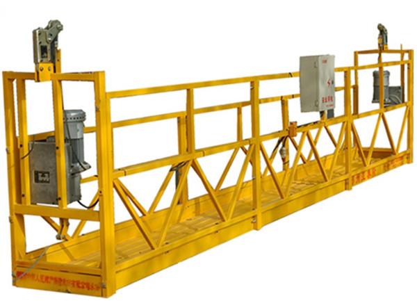 Plataforma suspesa de 3 fases de plata galvanitzada calenta de 7.5 m Zlp800a per a la pintura de paret