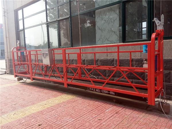 7,5 metro aliuminio pakabinamos vielos platformos 1000KG su vienfaziu gondolos platforma
