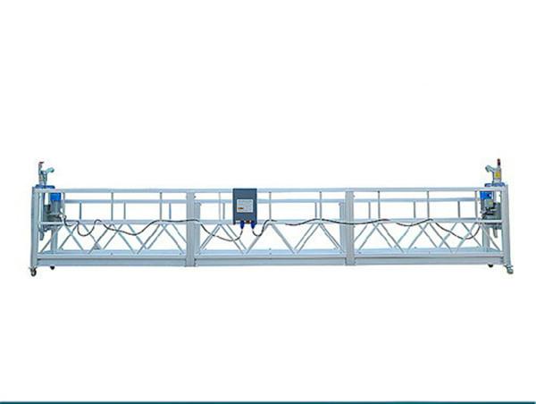 800KG塗装アルミニウム懸架アクセスプラットフォームモーターパワー1.8KW足場プラットフォーム