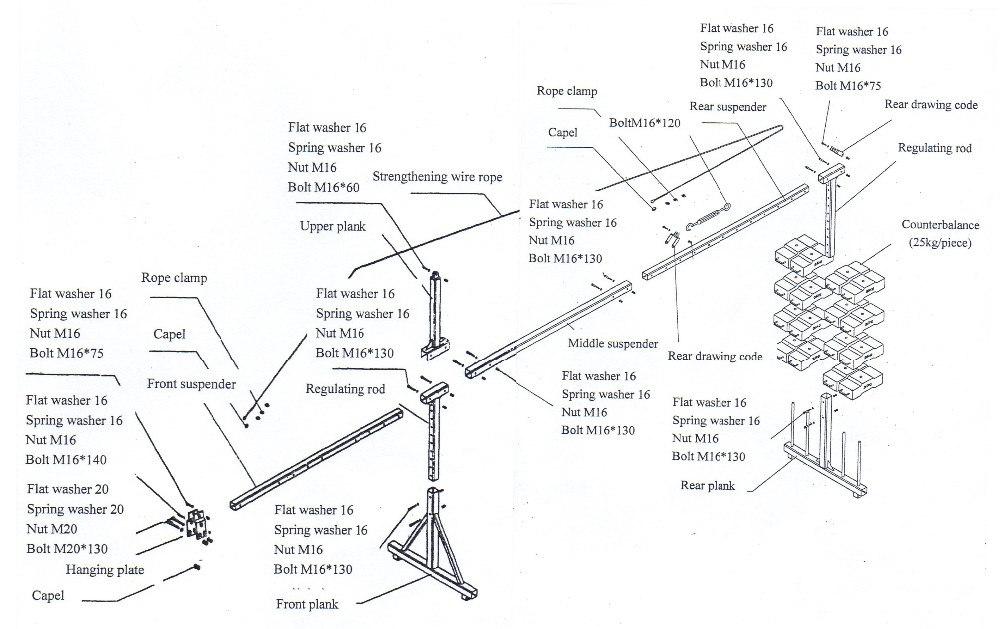 Alüminyum cephe temizleme asansörü iskele, asılı sepet vinç gondol