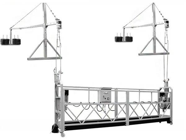 Ēkas tīrīšanas skavu / sastatņu kāpnes / celtniecības elektriskie pacelšanas pacēlāji / piekares platforma