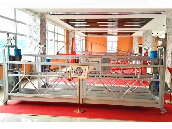 Limpeza de janelas de edifício acesso suspenso ZLP500 plataforma de trabalho de alta elevação