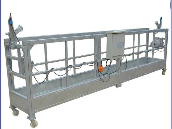 Painted Aluminum Suspended Wire Rope Platform 500kg 630kg 800kg 1000kg