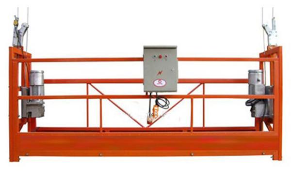 Pembersihan Tingkap ZLP630 Tali Dilantung Platform Gondola Cradle Dengan Hoist LTD6.3