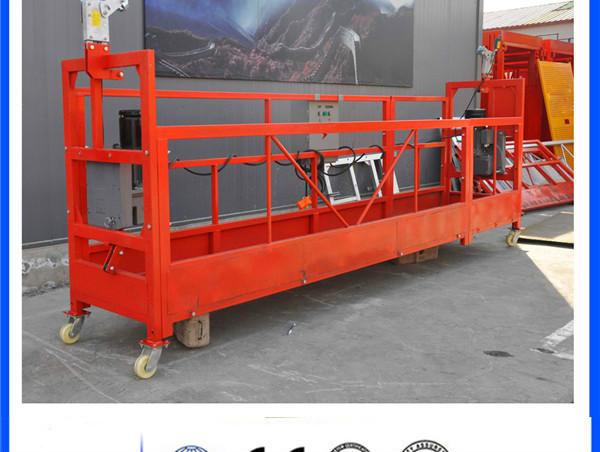 ZLP 630 800 1000 ZLP630 ZLP800 ZLP1000 Échafaudage en acier galvanisé en aluminium Plate-forme suspendue pour le nettoyage de vitres de construction