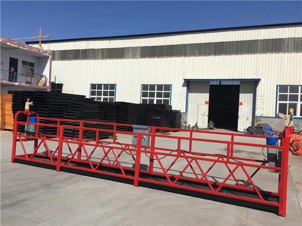 ZLP sērijas karstais cinkojums / alumīnija piekaramās platformas šūpuļa daudzstāvu ēkas sienu gleznošana, stikla tīrīšana