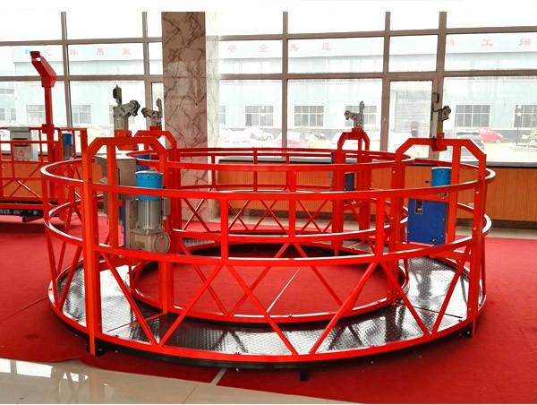 ZLP630 Elektrikli çelik askıya alınmış çalışma platformu, yüksek artışlı bina temizliği askıya alınmış platform