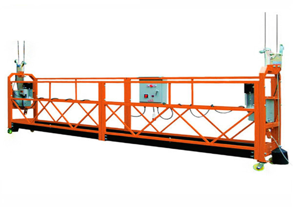 perancah motor yang digantung platform kerja udara dengan angkat angkat pembinaan