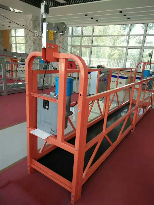 1.8KW 8KN ZLP 800 Durable Suspended Working Platform With Steel Rope 8.6mm Diameter