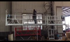 100m steel wire rope, aluminum 800kg ZLP 800 Aerial suspended platform with hot galvanized