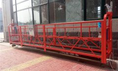 7.5m Aluminum Suspended Rope Platform 1000KG With Single Phase , Gondola Platform