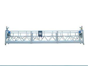 500 kg 2 m * 2 sections en alliage d'aluminium suspendues équipement d'accès zlp500