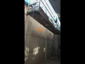 Алюмінієвий фасад для прибирання ліфтів, підвісна підйомна коробка гондола