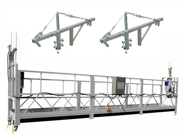 Building Construction Tools 630kg Suspended Working Platform With Wire Rope
