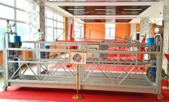 custom aluminum steel personnel hoist suspended working platform hanging scaffold systems