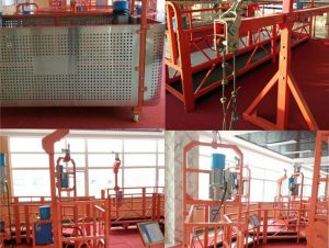 boyalı alüminyum asma tel halat platformu 500kg / 630kg / 800kg / 1000kg