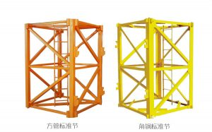 china manufacture self erecting tower crane mast section for use