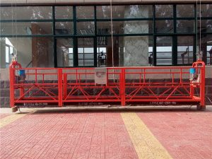 commercial aluminum maintenance cradle window cleaning equipment