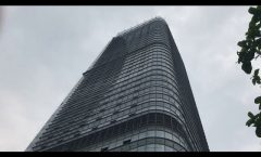 Construction hanging basket, high rise suspended working platforms