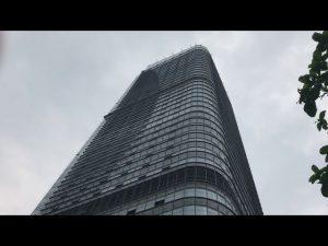 Cesta colgante de construcción, plataformas de trabajo suspendidas de gran altura