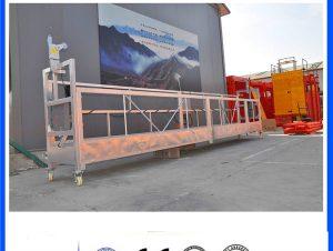 CE / ISO ได้รับการอนุมัติการก่อสร้างไฟฟ้า ZLP / อาคาร / ผนังภายนอกระงับแพลตฟอร์ม / แท่น / เรือแจว / แกว่งเวที / climbe ฟ้า
