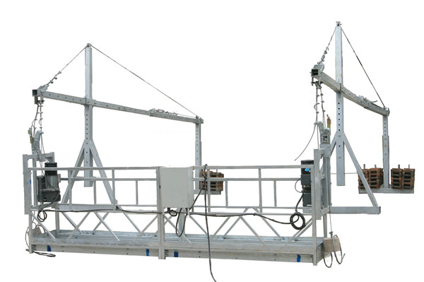 Moveable Safety Rope Suspended Platform ZLP500 With Rated Capacity 500KG