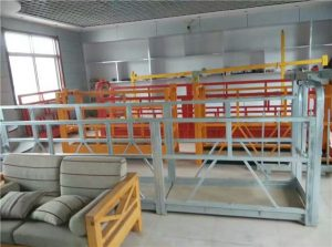 steel / hot galvanized / aluminium alloy rope suspended platform 1.5KW 380V 50HZ