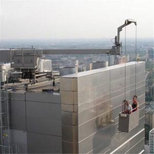 ZLP500 aireztapen esekidura plataforma eraikitze-seila eraikuntza kanpoko hormarako