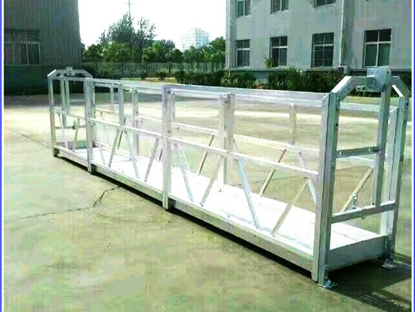 ZLP630 aluminium alloysteel electric lift suspend platform suspension work platform