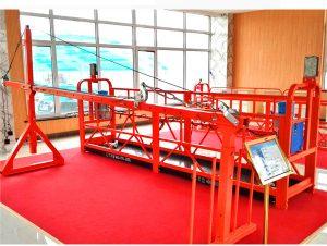 plate-forme de travail suspendue temporaire réglable pour installation d'ascenseurs / réparation de navires